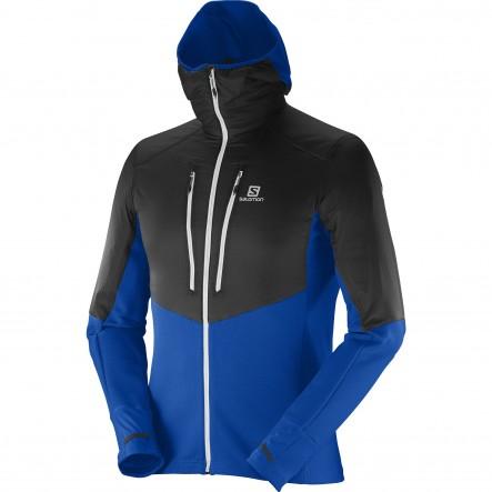 Geaca alergare Salomon Drifter Air Mid Hoodie-Albastru