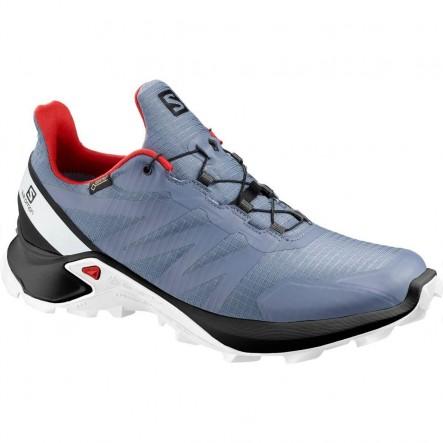 Pantofi alergare Salomon SUPERCROSS GTX - Bleu