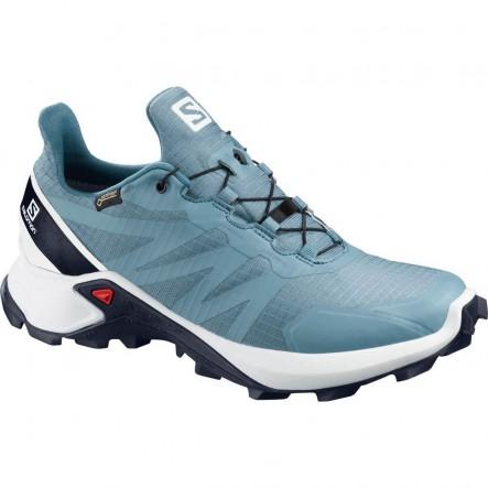 Pantofi alergare Salomon SUPERCROSS GTX W - Bleu