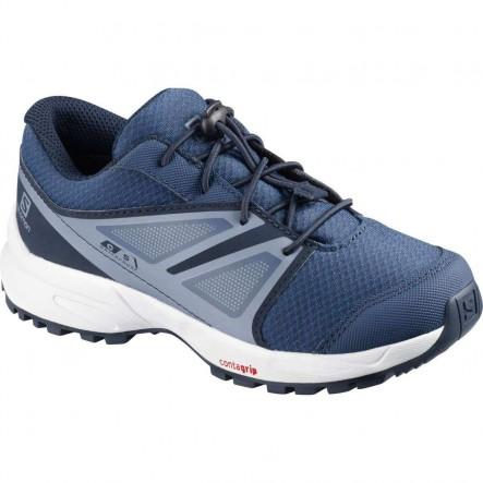 Pantofi alergare Salomon SENSE CSWP K - Albastru