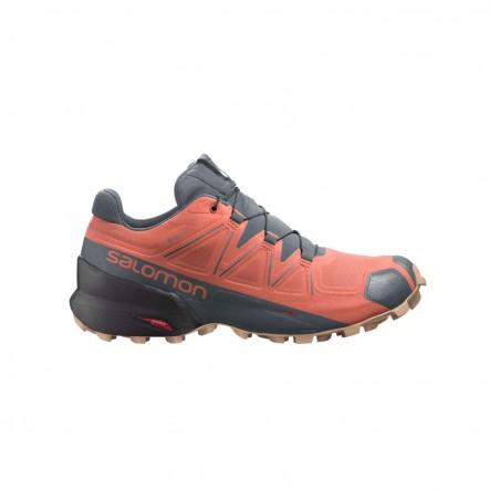 Pantofi alergare Salomon SPEEDCROSS 5 GTX W - Portocaliu