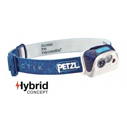 Lantena frontala Petzl Actik Hybrid - Albastru