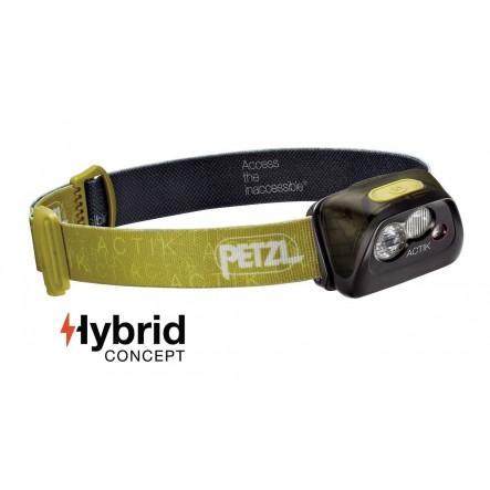 Lantena frontala Petzl Actik Hybrid - Lime