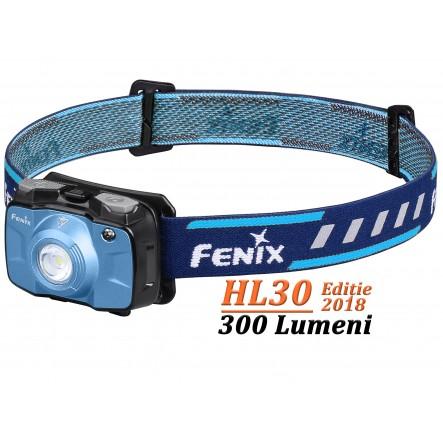 Lanterna frontala Fenix HL30 - 300 Lumeni - 50 Metri - Albastru