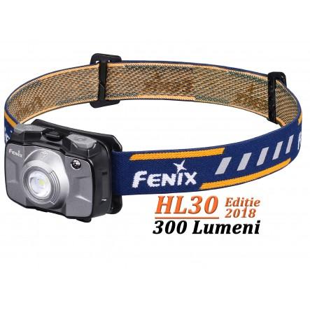 Lanterna frontala Fenix HL30 - 300 Lumeni - 50 Metri - Gri