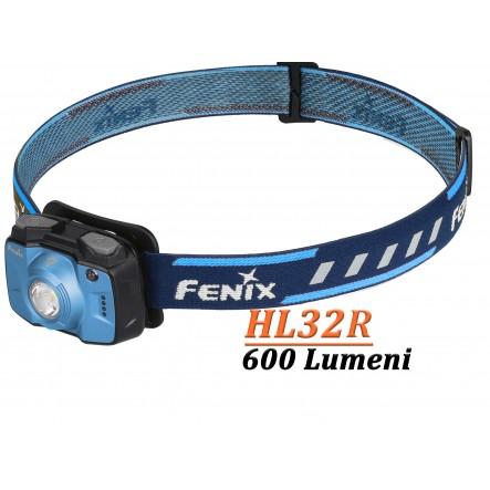 Lanterna frontala reincarcabila Fenix HL32R - 600 Lumeni - 73 Metri - Albastru
