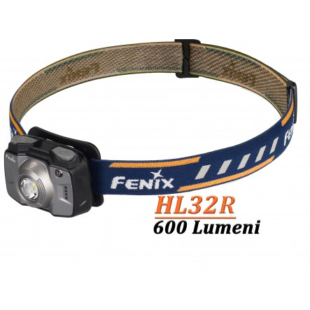 Lanterna frontala reincarcabila Fenix HL32R - 600 Lumeni - 73 Metri - Gri