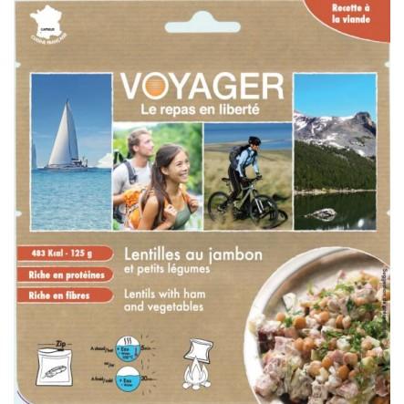 Mancare Voyager Linte cu jambon si legume (125g)