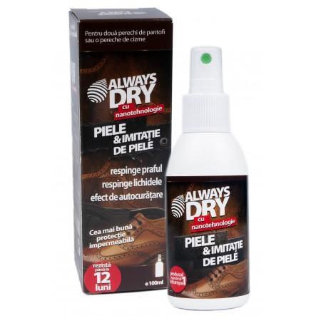 Solutie protectie incaltaminte piele si imitatie de piele Always Dry