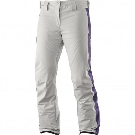 Pantaloni ski Salomon Whitedream-Alb