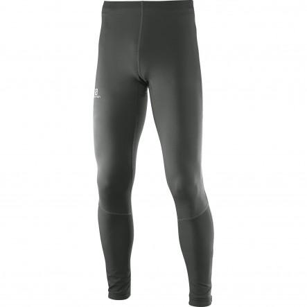 Pantaloni alergare Salomon Agile Long Tight-Gri