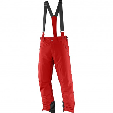 Pantaloni ski Salomon Iceglory-Rosu