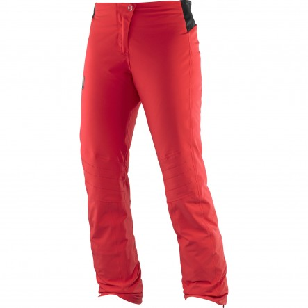 Pantaloni ski Salomon Whitelight-Rosu