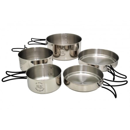 Set vase camping ALB Everest inox