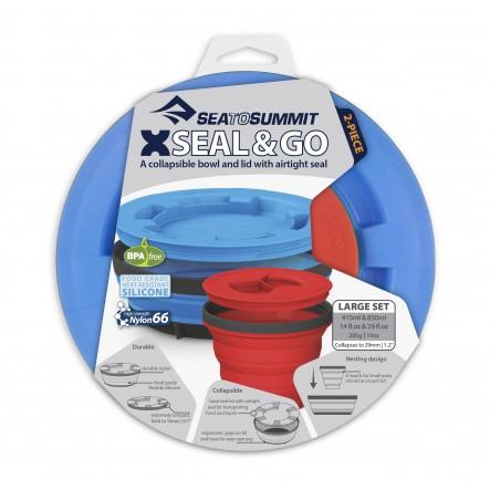 Set vase cu inchidere etansa Sea To Summit - 2 piese - Royal Blue / Red