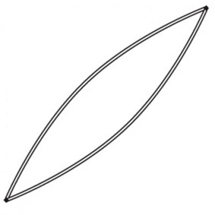 Tija linie plutire / gurna exterioara canoe Ally 16