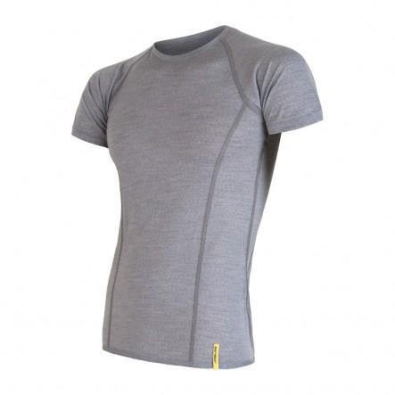 Tricou barbati Sensor 100% lana Merinos Active - Gray