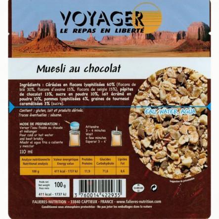 Mancare Voyager Musli cu ciocolata