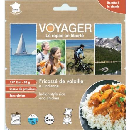 Mancare Voyager curry cu orez si pui (80 g)