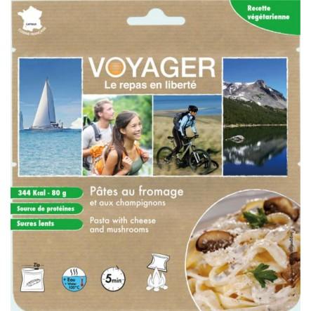 Mancare Voyager paste cu branza si ciuperci
