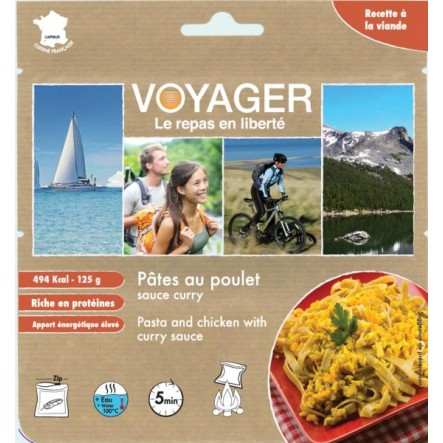 Mancare Voyager paste cu pui si curry (125 g)