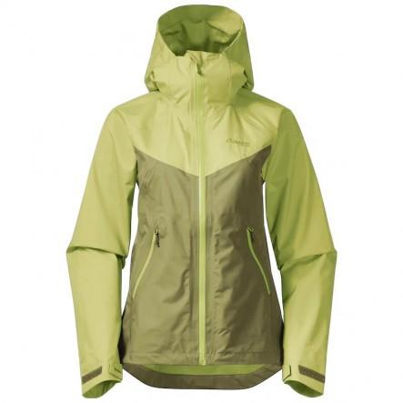Geaca impermeabila shell femei Bergans Letto V2 3L - Dark Green Oasis / Green Oasis