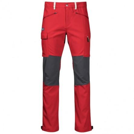 Pantaloni drumetie Bergans Nordmarka Hybrid -  Red Sand / Solid Dark Grey