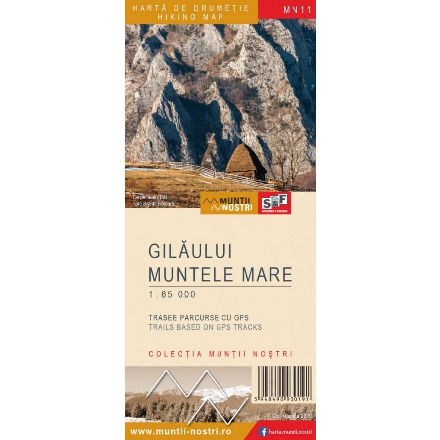 Harta De Drumetie Muntii Gilau Muntele Mare