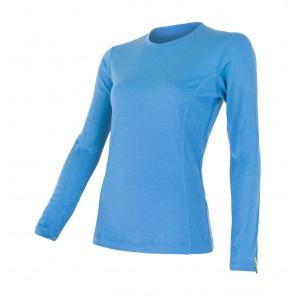 Bluza de corp femei Sensor 100% lana Merinos Active - Blue