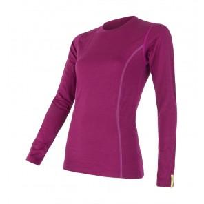 Bluza de corp femei Sensor 100% lana Merinos Active - Purple