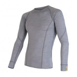 Bluza de corp barbati Sensor 100% lana Merinos Active - Gray