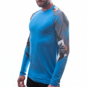 Bluza de corp barbati Sensor 100% lana Merinos Active Blue Camo - Blue