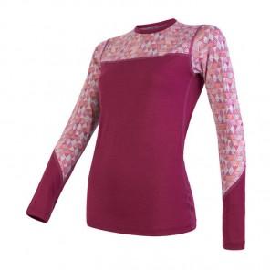 Bluza de corp femei Sensor 100% lana Merinos Impress - Purple
