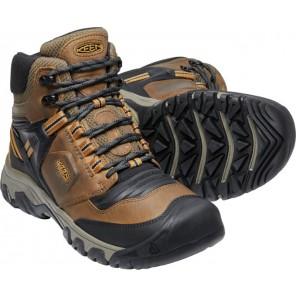 Bocanci KEEN Ridge Flex MID WP M - Bison / Golden brown