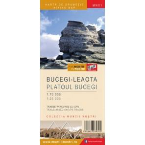 Harta de drumetie Bucegi - Leaota - Muntii Nostri