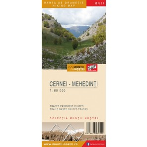 Harta drumetie Muntii Cernei - Mehedinti - Muntii Nostri