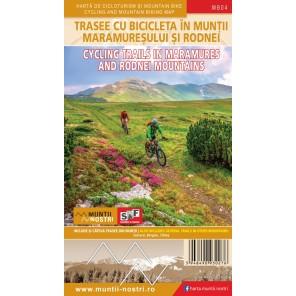 Harta trasee cicloturistice Muntii Maramuresului - Muntii Nostri