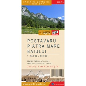 Harta de drumetie Postavaru, Piatra Mare si Baiului - Muntii Nostri