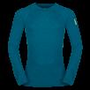 Bluza de corp din lana merino ZAJO Bergen - Albastru