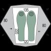 Cort Pinguin Aero 2 DAC - 2 persoane - Verde