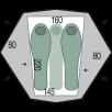 Cort Pinguin Aero 3 DAC - 3 persoane - Verde