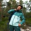 Geaca impermeabila de tip shell Bergans Letto V2 3L - Misty Forest / Forest Frost