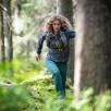 Pantaloni drumetie softshell femei Bergans Cecilie Flex - Dark Forest Frost