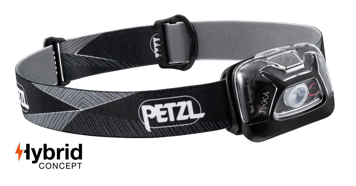 Lanterna frontala Petzl Tikka Hybrid 2019 - Negru