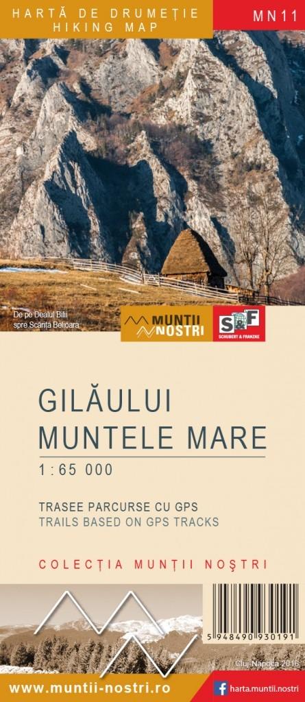 Harta de drumetie Muntii Gilau - Muntele Mare