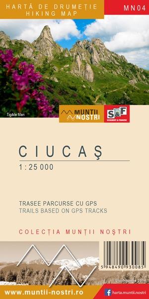 Harta de drumetie Ciucas - Muntii Nostri