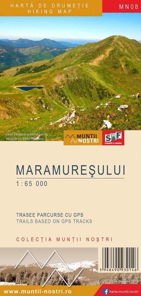 Muntii Nostri Harta de drumetie Maramuresului - Muntii Nostri