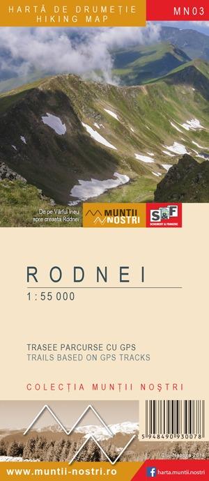 Harta de drumetie Rodnei - Muntii Nostri