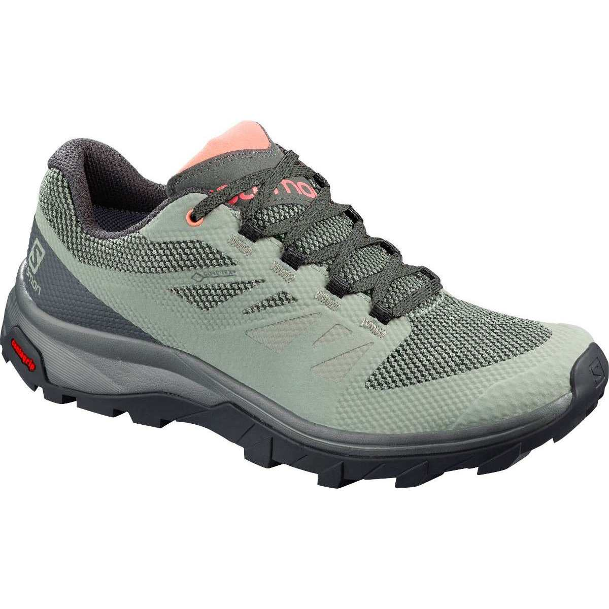 Salomon Ghete drumetie Salomon OUTLINE GTX W - Verde
