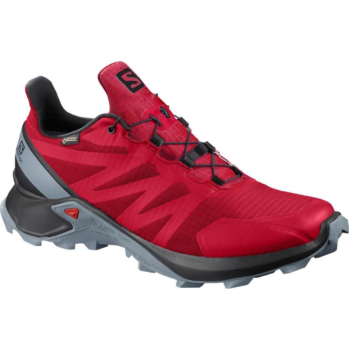 Pantofi alergare Salomon SUPERCROSS GTX – Rosu de la proalpin.ro
